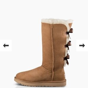 UGG Bailey bow tall boots size 8, chestnut
